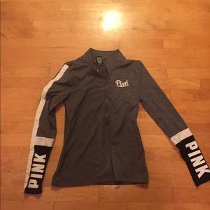 Pink workout dry fit jacket